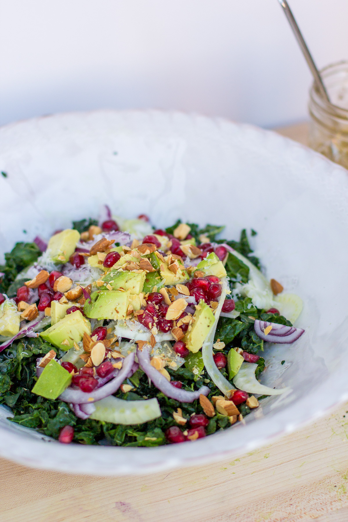 kale salad recipe, massaged kale, healthy cooking, wandeleur, simple recipes