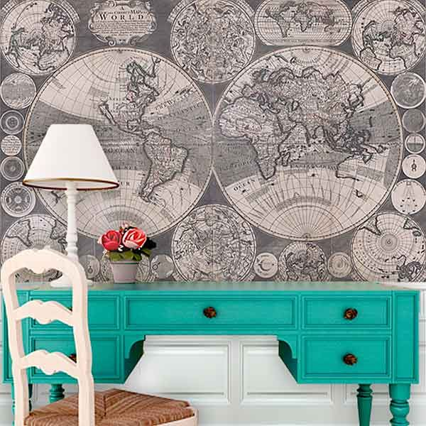 Inspiring Ways To Decorate With Maps Wandeleur