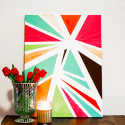diy geo painting, diy for your home, diy abstract painting, wandeleur
