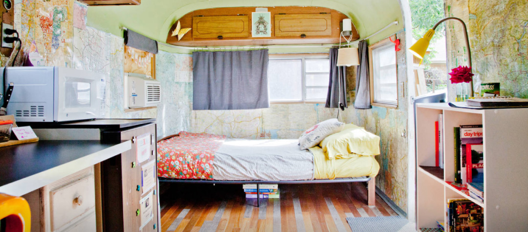 Vintage Airstream home tour in austin texas