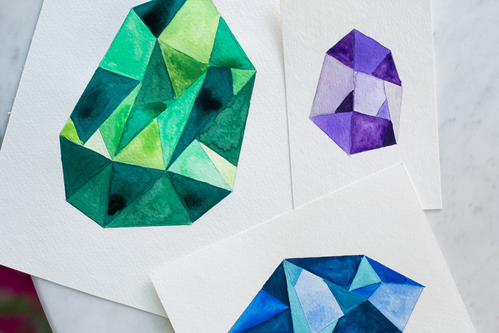 4-faceted-gemstone-wall-art