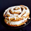 Cinnamon Roll Layered Cake