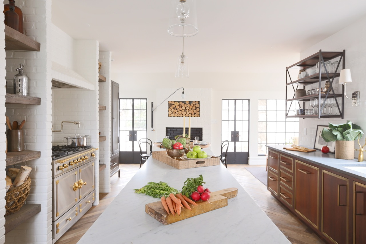 Summer Thornton - French Tudor Country Club Kitchen