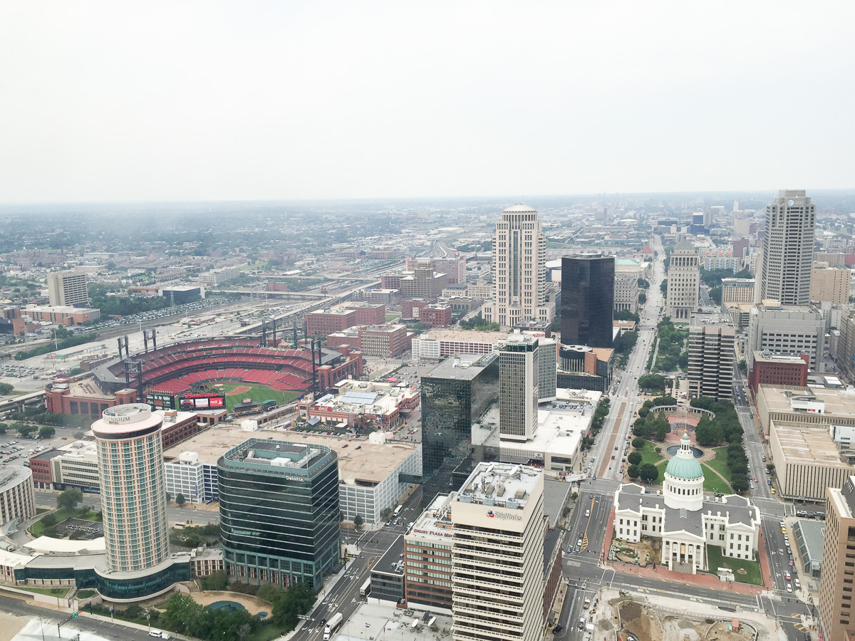 View from the Gateway Arch in St Louis