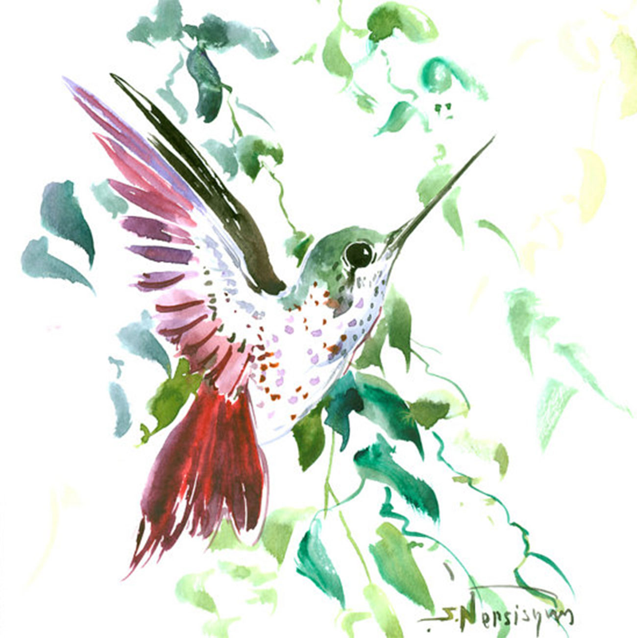 Hummingbird-painting