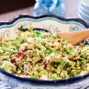 Quinoa Avocado Brussels Sprout Salad_Healthy Brussel Sprout salad-9